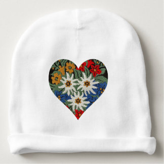 Heart Shaped Edelweiss Alpine Flower Baby Beanie