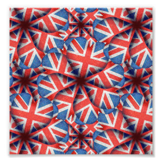 Heart Shaped England Flag Pattern Design Photograph