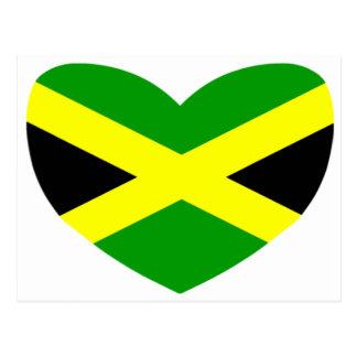 Heart Shaped Flag of Jamaica Postcard