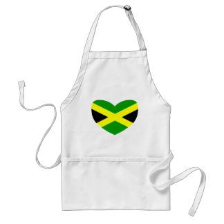 Heart Shaped Flag of Jamaica Standard Apron