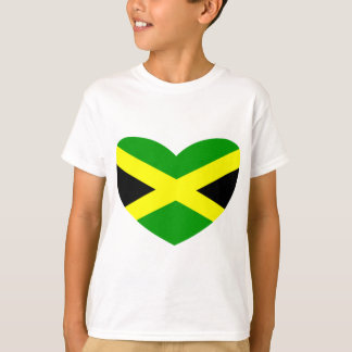 Heart Shaped Flag of Jamaica T-Shirt