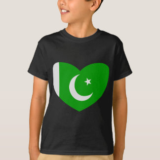 Heart Shaped Flag of Pakistan T-Shirt