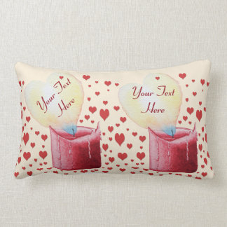 heart shaped flame red candle love illustration throw cushions