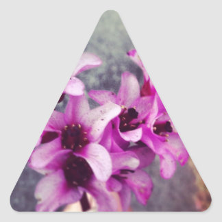 heart shaped flower bouquet triangle sticker