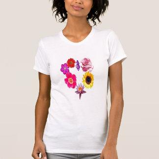 Heart shaped flower pattern T-Shirt