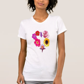 Heart shaped flower pattern t shirts