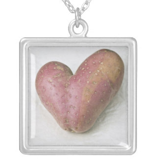 Heart-shaped Francine potato Silver Plated Necklace