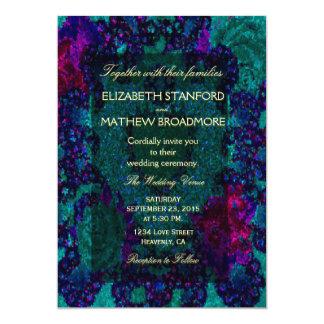 Heart Shaped Glitter Design 13 Cm X 18 Cm Invitation Card