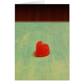Heart Shaped Gumdrop Greeting Card