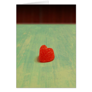 Heart Shaped Gumdrop Greeting Cards