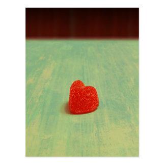 Heart Shaped Gumdrop Postcard