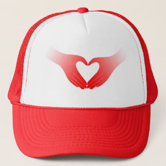 Heart Shaped Hands Trucker Hat