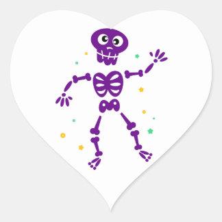 Heart shaped heart with Skeleton Heart Sticker