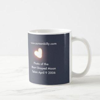 .Heart Shaped Moon Coffee mug