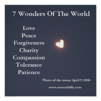 Heart shaped moon poster