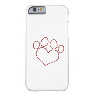 Heart Shaped Paw Dog Cat Puppy Kitten Barely There iPhone 6 Case