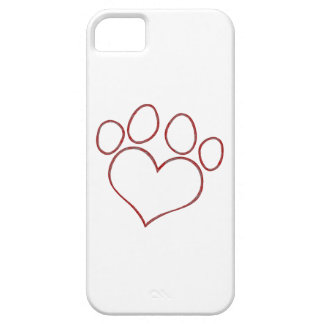 Heart Shaped Paw Print Dog Cat Puppy Kitten iPhone 5 Cover