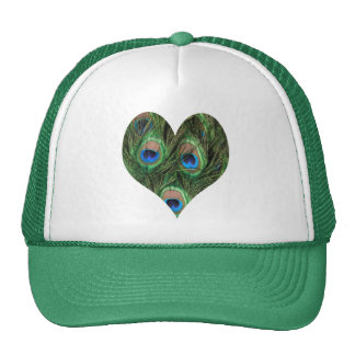 Heart Shaped Peacock Feather Hat