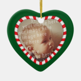 Heart Shaped Photo Frame Christmas Ornament