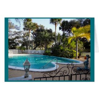 Heart Shaped Pool River Lily Inn - Daytona Beach Greeting Card