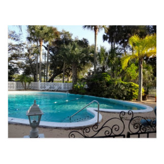 Heart Shaped Pool River Lily Inn - Daytona Beach Postcard