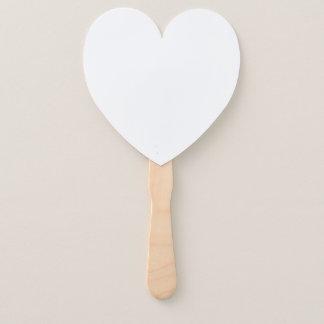 Heart Shaped Program Fans