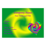 Heart Shaped Rainbow Twirl Pack Of Chubby Business Cards