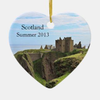 Heart Shaped Scotland Photo Ornament