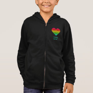 Heart shaped smiley rainbow hoodie