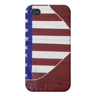Heart-Shaped Stars and Stripes Case For iPhone 4