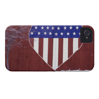 Heart-Shaped Stars and Stripes iPhone 4 Case-Mate Case