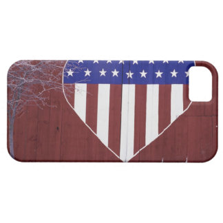 Heart-Shaped Stars and Stripes iPhone 5 Cases