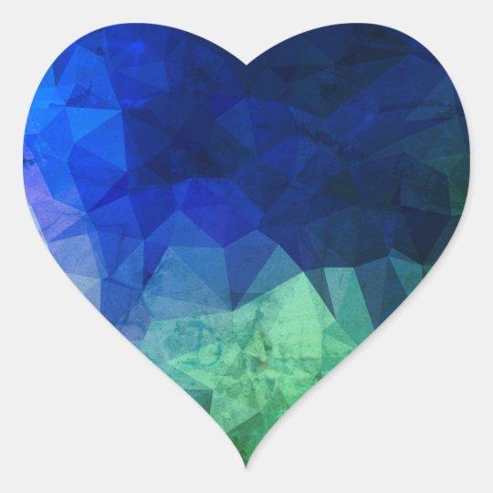 Heart shaped Sticker : sky blue