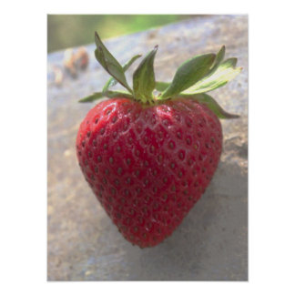 Heart Shaped Strawberry Poster
