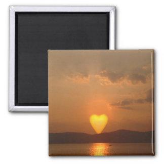 Heart Shaped Sun Magnet