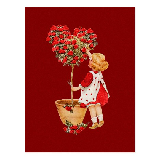 Heart Shaped Topiary Postcard