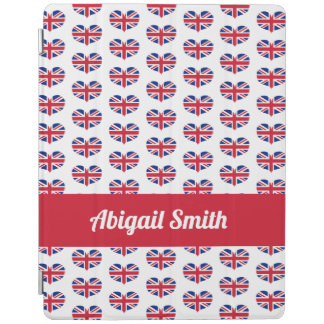 Heart Shaped UK Flag / Union Jack Personalized iPad Cover