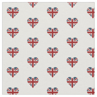 Heart Shaped Union Jack Flag Fabric