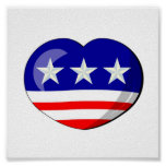 Heart-shaped USA Flag