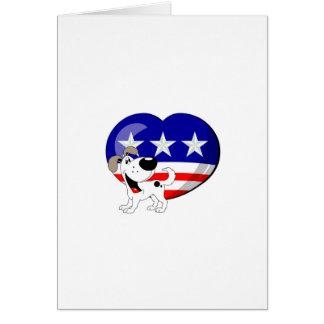 Heart-shaped USA Flag Cards