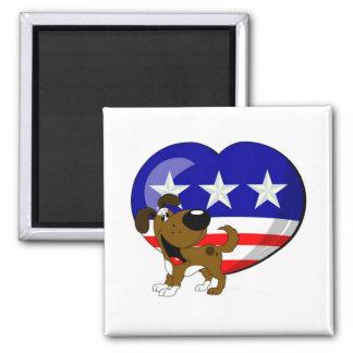 Heart-shaped USA Flag Magnets