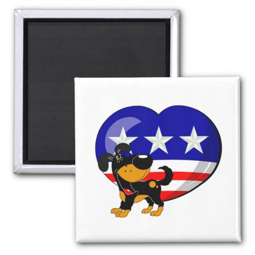 Heart-shaped USA Flag Magnet