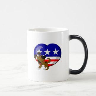 Heart-shaped USA Flag Morphing Mug