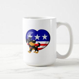 Heart-shaped USA Flag Mugs