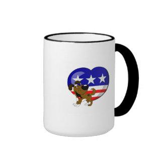 Heart-shaped USA Flag Ringer Mug
