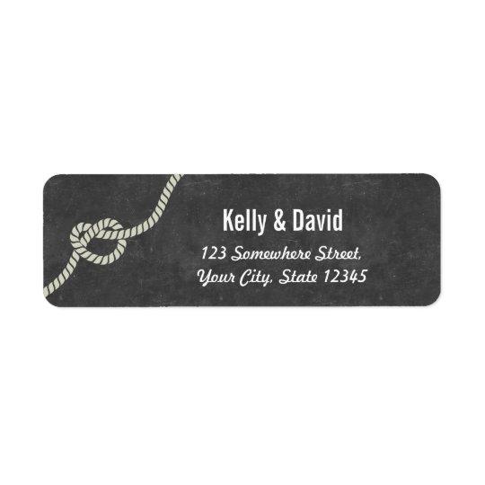 Heart-sharped Knot Chalkboard Return Address Return Address Label