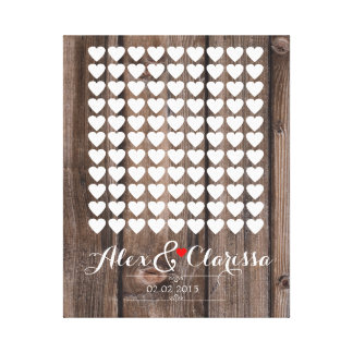 heart signing wedding guestbook guest book canvas print