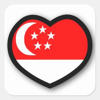 Heart Singapore Sticker