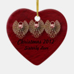 Heart Sisterly Love Personalised Ornament