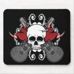 Heart Skull Guitar Mouse Pad